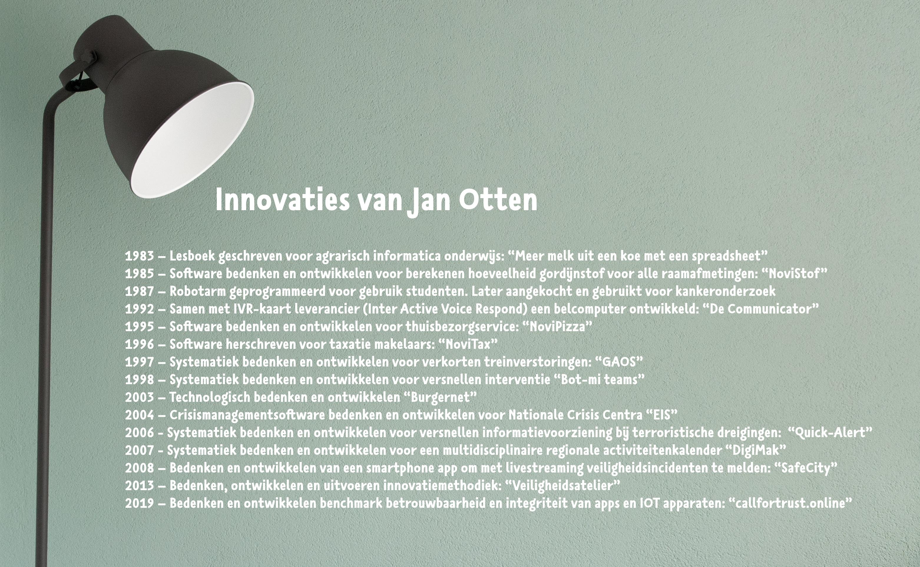Deze innovaties zijn van de hand van Jan Otten